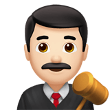 Man Judge Emoji with a Light Skin Tone, Apple style