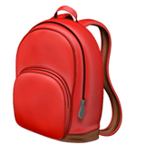 School Backpack Emoji, Apple style