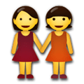 Two Women Holding Hands Emoji, LG style