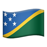 Flag of Solomon Islands Emoji, Apple style