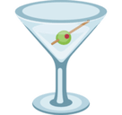 Cocktail Glass Emoji, Facebook style