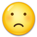 Frowning Face Emoji, LG style