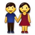 Man and Woman Holding Hands Emoji, LG style