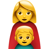 Family: Woman, Boy Emoji, Apple style