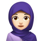 Woman with Headscarf Emoji with Light Skin Tone, Apple style