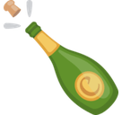 Champagne Emoji / Bottle with Popping Cork Emoji, Facebook style