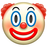 Clown Face Emoji, Apple style