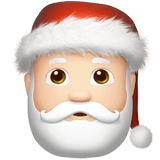Santa Claus Emoji with a Light Skin Tone, Apple style