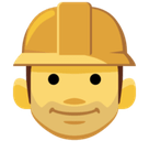 Construction Worker Emoji, Facebook style
