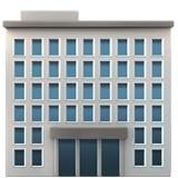 Office Building Emoji, Apple style
