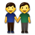 Two Men Holding Hands Emoji, LG style