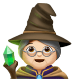 Woman Mage Emoji with Light Skin Tone, Apple style