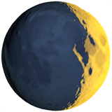 Waxing Crescent Moon Emoji, Apple style