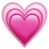 Growing Heart Emoji, Apple style