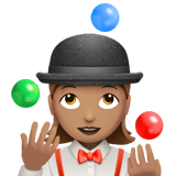 Woman Juggling Emoji with a Medium Skin Tone, Apple style