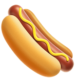 Hot Dog Emoji, Apple style
