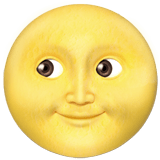 Full Moon with Face Emoji, Apple style