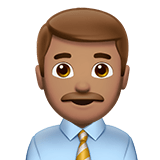 Man Office Worker Emoji with a Medium Skin Tone, Apple style