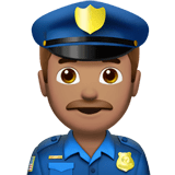 Police Officer Emoji with a Medium Skin Tone, Apple style