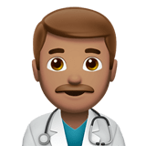 Man Health Worker Emoji with a Medium Skin Tone, Apple style