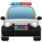 Oncoming Police Car Emoji, Apple style
