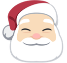 Santa Claus Emoji with a Light Skin Tone, Facebook style