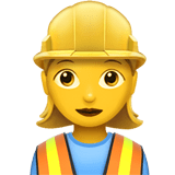 Woman Construction Worker Emoji, Apple style