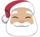 Santa Claus Emoji with a Medium-Light Skin Tone, Facebook style