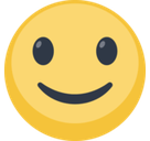 Slightly Smiling Face Emoji, Facebook style