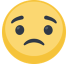Slightly Frowning Face Emoji, Facebook style