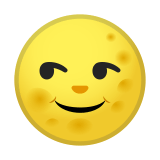 Full Moon with Face Emoji, Google style