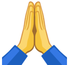 Praying Hands Emoji / Folded Hands Emoji, Facebook style