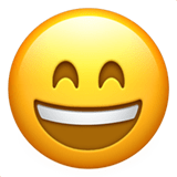 Happy Emoji / Smiling Face With Open Mouth And Smiling Eyes Emoji, Apple style