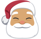 Santa Claus Emoji with a Medium Skin Tone, Facebook style