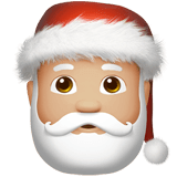Santa Claus Emoji with a Medium-Light Skin Tone, Apple style