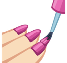 Nail Polish Emoji with a Light Skin Tone, Facebook style