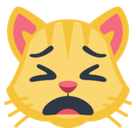 Weary Cat Face Emoji, Facebook style