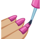 Nail Polish Emoji with a Medium-Light Skin Tone, Facebook style