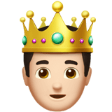 Prince Emoji with a Light Skin Tone, Apple style
