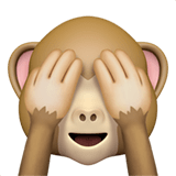 See-No-Evil Monkey Emoji, Apple style