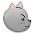 Pouting Cat Face Emoji, LG style
