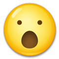 Face with Open Mouth Emoji, LG style