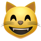 Grinning Cat Face With Smiling Eyes Emoji, Apple style