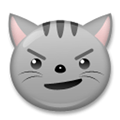 Cat Face with Wry Smile Emoji, LG style