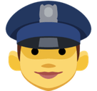 Woman Police Officer Emoji, Facebook style
