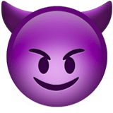 Devil Emoji / Smiling Face with Horns Emoji, Apple style