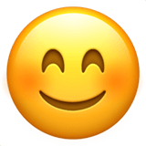 Blushing Emoji / Smiling Face with Smiling Eyes Emoji, Apple style