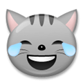 Laughing Cat Emoji / Cat Face with Tears of Joy Emoji, LG style