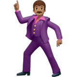 Man Dancing Emoji with a Medium Skin Tone, Apple style