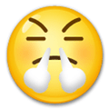 Frustrated Emoji / Face with Steam from Nose Emoji, LG style
